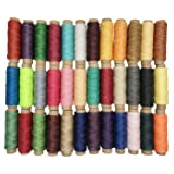 Goiio 36 Colors Waxed Thread, Leather Sewing Thread,Hand Stitching Thread for Hand Sewing Leather and Bookbinding, 33Yards Per Color (Tamaño: 1188 yards)