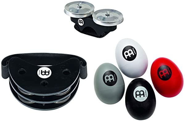 Meinl Percussion Key Ring Shaker with Strudy ABS Plastic, Black//Red - NOT MADE IN CHINA - Perfect for Jam Sessions and Acoustic Shows, KRS-BK