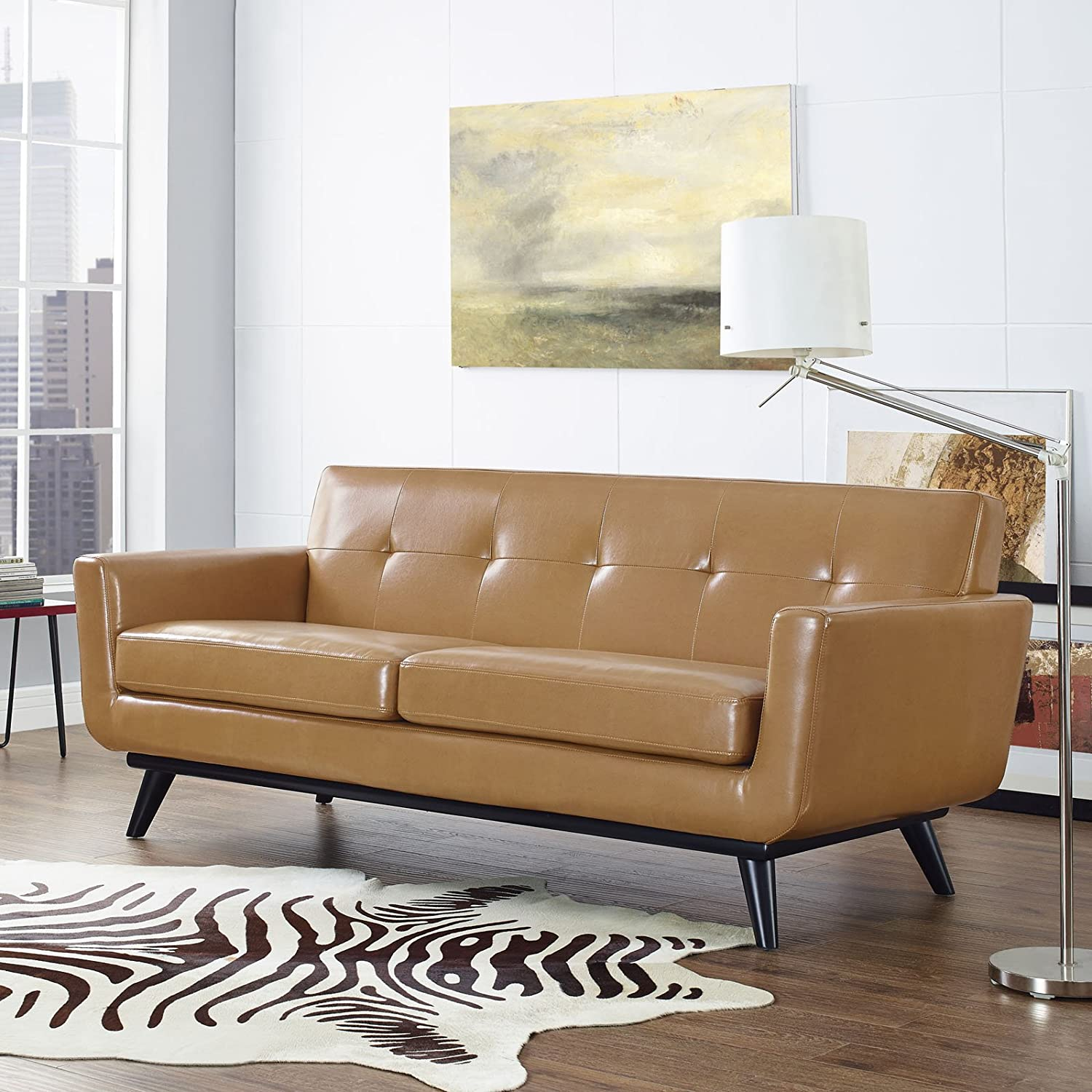 Engage Leather Loveseat - Tan