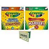 Crayola 10-Count Ultra Clean Expression Stamper Markers (Bundle) (Tamaño: Bundle)