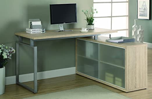 Glass l Shaped Desk Shaped Desk/frosted Glass