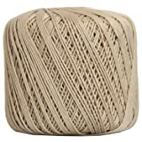 Threadart 100% Pure Cotton Crochet Thread - SIZE 3 - Color 16 - TAN -2 sizes 27 colors available (Color: TAN, Tamaño: SIZE 3 SINGLE)