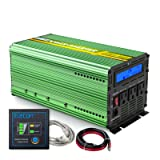 EDECOA Pure Sine Wave Power Inverter 1500W Peak 3000W DC 12V to 110V AC with LCD Display and Remote Controller