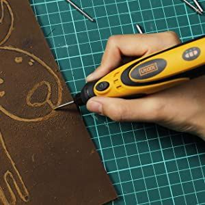 Engraver Pen, Utool 3.6V Li-ion Cordless Rotary Tool, USB Charging Cable, 42 Accessories for Glass Metal Wood and Delicate & Light DIY (Color: Yellow, Tamaño: cordless rotary tool)