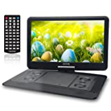 15.6 Inch Portable DVD Player for Car with Games Function for Kids, USB / SD Slot (Black)