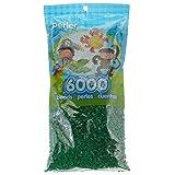 Perler Beads Fuse Beads for Crafts, 6000pcs, Dark Green (Color: Dark Green)