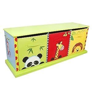 Teamson Sunny Safari 3 Bag Storage Cabinet       BabyCustomer review and more information