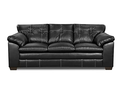 Simmons Upholstery 6769-03 Premier Onyx Bonded Leather Sofa