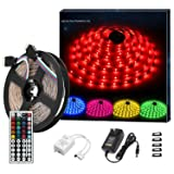 Topled Light LED Strip Lights Kit, LED Flexible Light Strip 16.4ft 5050 RGB 150leds Strip Lighting with 12V 3A Power Supply  44 Key IR Remote for DIY