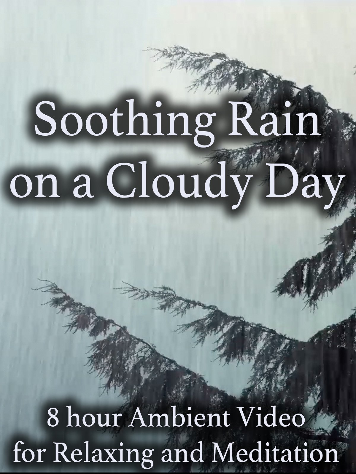 Soothing Rain on a Cloudy Day 8 Hour Ambient Video for Relaxing and Meditation