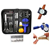 294 Pieces Watch Repair Tool Kit with Case by Belle Vous - Watchmaker tools - Link Remover, Watch Pins, Watch Making Kit, Back Case Opener, Watch Band Link Pin, Spring Bar Tool - Christmas Gift