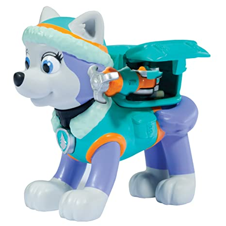 Paw Patrol – Action Pack – Everest – Figurine Sac à Dos et Badge de la Pat Patrouille