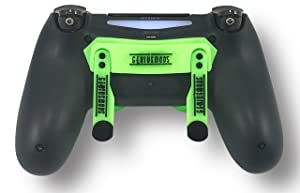PS4 Elite Controller With Back Paddles & Trigger Stops - Custom Controller Electric Green Soft Touch Grip Custom Controller Dual Trigger Attachments – Perfect For Esports Tournaments & Competitions! (Color: Electric Green)