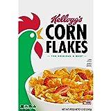 Corn Flakes Kellogg's, Breakfast Cereal, Original, Fat-Free, 12 oz Box