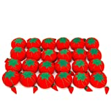 Dritz CW29 Tomato Pin Cushion with Emery, Size 2 (3/4-Inch) 24-Pack, Red, 24 Count (Color: Red, Tamaño: Size 2 (3/4-Inch) 24-Pack)