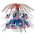 Beistle 57369 Mini Flag Cascade Centerpiece