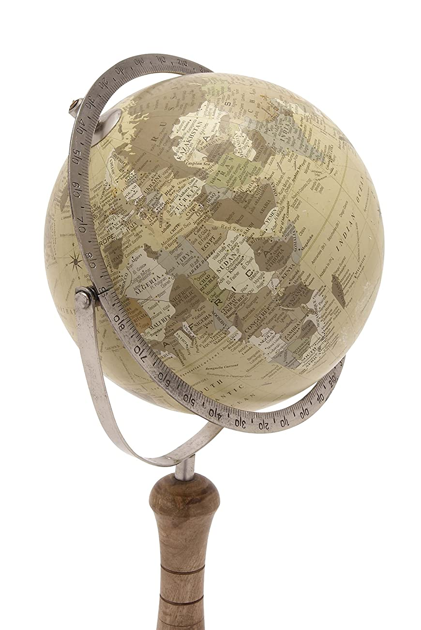 Deco 79 24074 Classic World Globe On Wooden Stand, Small 1