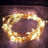 The Unique Starry Lights: 20ft Copper Wire & 120 Warm White Individual LED's on Ultra-thin Copper Color String - Very Bright Sets of Starry Lights - 110-220V. Power Plug for U.S.A. & Europe Included (The only portable in the market) - Last Generation of Micro LEDs for Any Application - Use as Original Decorative LED Christmas Lights, Hanging Lights for Wedding, Bedroom & Patio Party. Indicated for New Year's Eve & Valentine's Day Gift. Give an Elegant Touch to Your Home on Holidays, Night & Day or Even Better, All Year Around! (No Hassle Guarantee by QUALIZZI)
