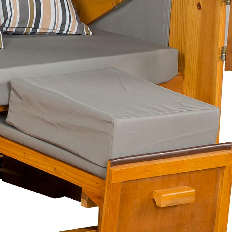 Strandkorb Auflagekissen-Set für Fussablage, grau, 2er Set, LILIMO ® günstig kaufen
