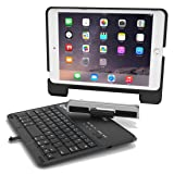 NewTrent Airbender lite with Detachable Wireless Bluetooth Smart Keyboard for The Apple iPad Mini 4 and iPad Mini 1 2 3 (Color: black, Tamaño: compact)