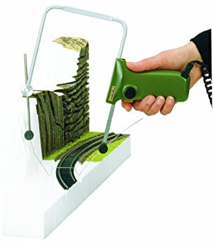 Proxxon 27082 Thermocut 12/E Hot Wire Cutter for Free Modelling in Styrofoam (Color: Green)