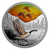 2019 CA Canada 2 oz Ag $30 Majestic Birds in Motion: Canada Geese Silver Brilliant Uncirculated