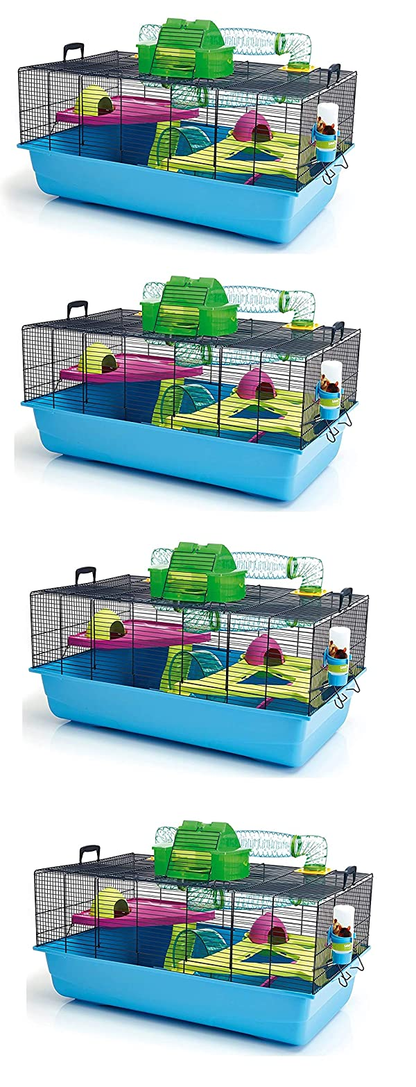 Lixit Animal Care Savic Hamster Heaven Metro Cage (4-Pack) (Tamaño: 4-Pack)