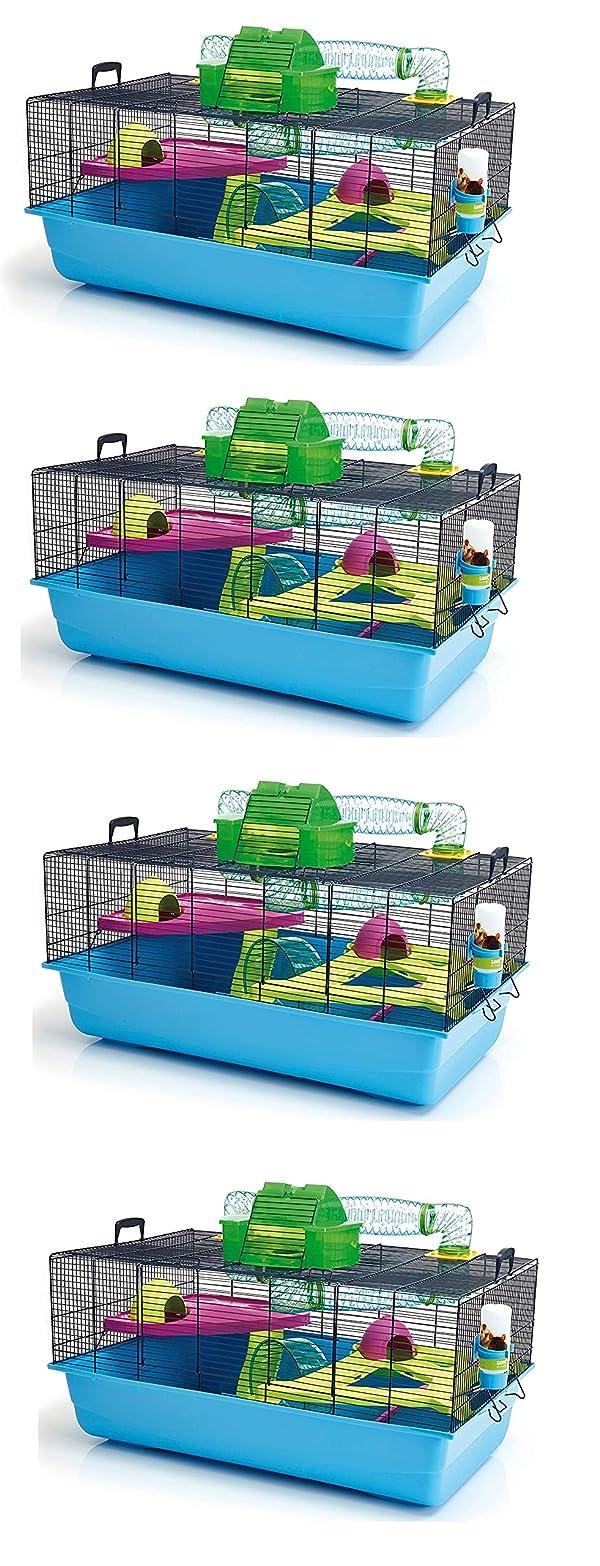 Lixit Animal Care Savic Hamster Heaven Metro Cage (4-Pack) (Tamaño: 4-Pack)
