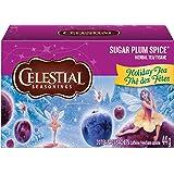 Celestial Seasonings Herbal Tea, Sugar Plum Spice, 20 Count (Tamaño: 20 Count)