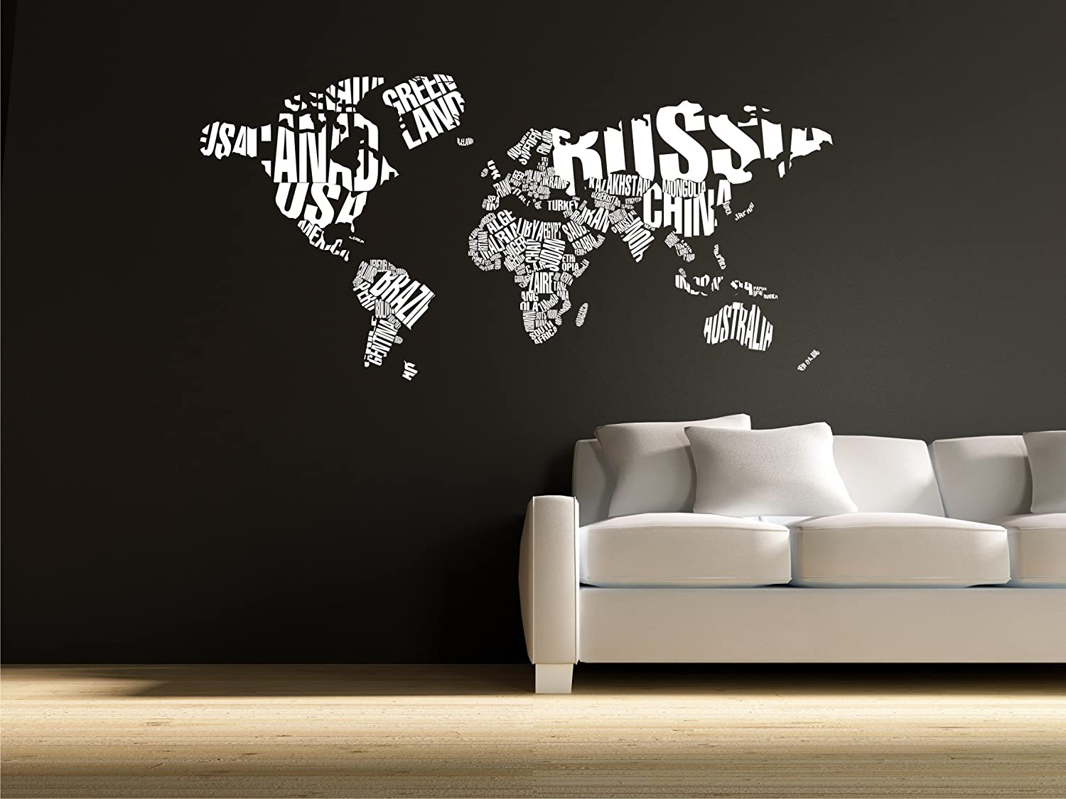 pics photos world map wall stickers