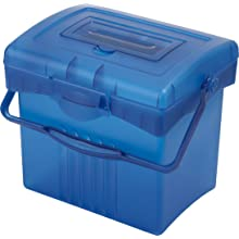 Storex Economy Portable File Box, Blue (61501U01C)