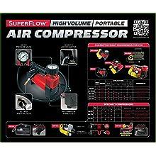 Q Industries HV-35 SuperFlow 12-Volt 140 PSI Air Compressor