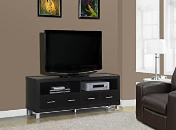"CAPPUCCINO HOLLOW-CORE 60""L TV CONSOLE WITH 4 DRAWERS (SIZE: 60L X 16W X 24H)"