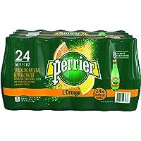 24-Pack PERRIER L'Orange Flavored Sparkling Mineral Water (Lemon Orange Flavor)