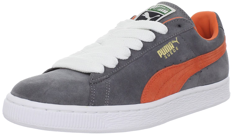 Puma Suede Steel Grey/Vermillion Orange