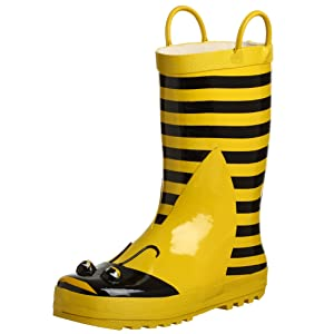 Yellow Bumblebee Wellie Boots