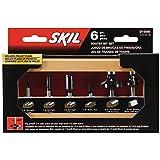 SKIL 91006 6-Piece Carbide Router Bit Set in Wooden Storage Case
