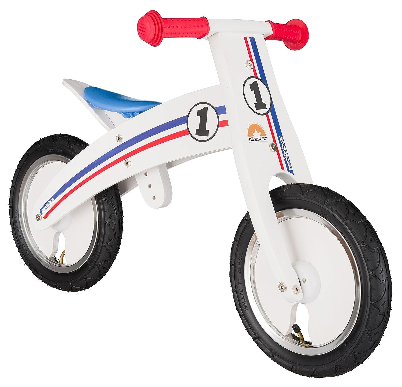 BIKESTAR® Mitwachsendes Kinderlaufrad für sichere und sorgenfreie Spielfreude ab 2 Jahren ★ 12er Natur Holz Edition ★ Traumhaft Weiß jetzt bestellen