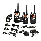 Midland - GXT1000VP4, 50 Channel GMRS Two-Way Radio - Up to 36 Mile Range Walkie Talkie, 142 Privacy Codes, Waterproof, NOAA Weather Scan + Alert (3 Pack) (Black/Silver) (Color: Black, Tamaño: 3 Pack)