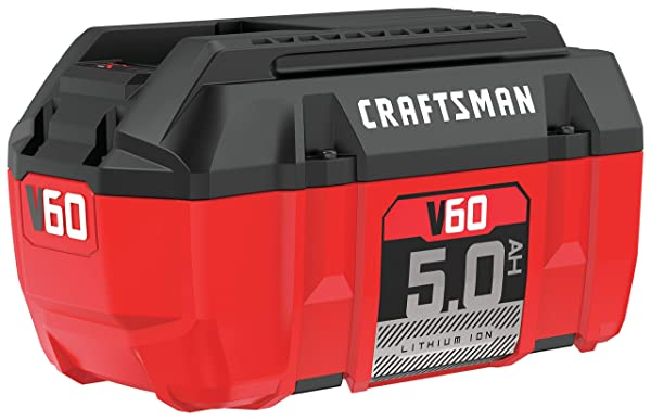 CRAFTSMAN V60 Battery, 5.0 Ah Lithium Ion (CMCB6050) (Color: Red)