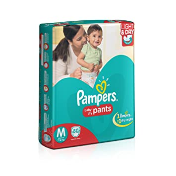 Image result for Pampers Medium Size Diaper Pants (80 Count)
