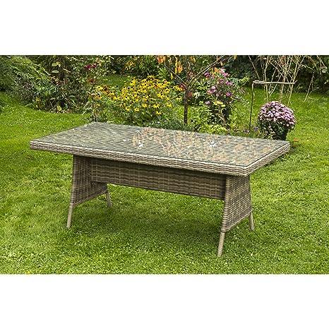 MERXX Gartentisch Pistoia mit Glasplatte 180x90 cm