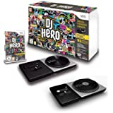 DJ HERO Game Double Bundle with Two Turntables Controllers for Nintendo Wii/Wii U Set