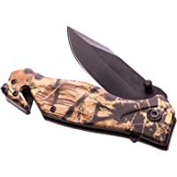 Outdoor Nation Rescue Pocket Knife with Seatbelt Cutter