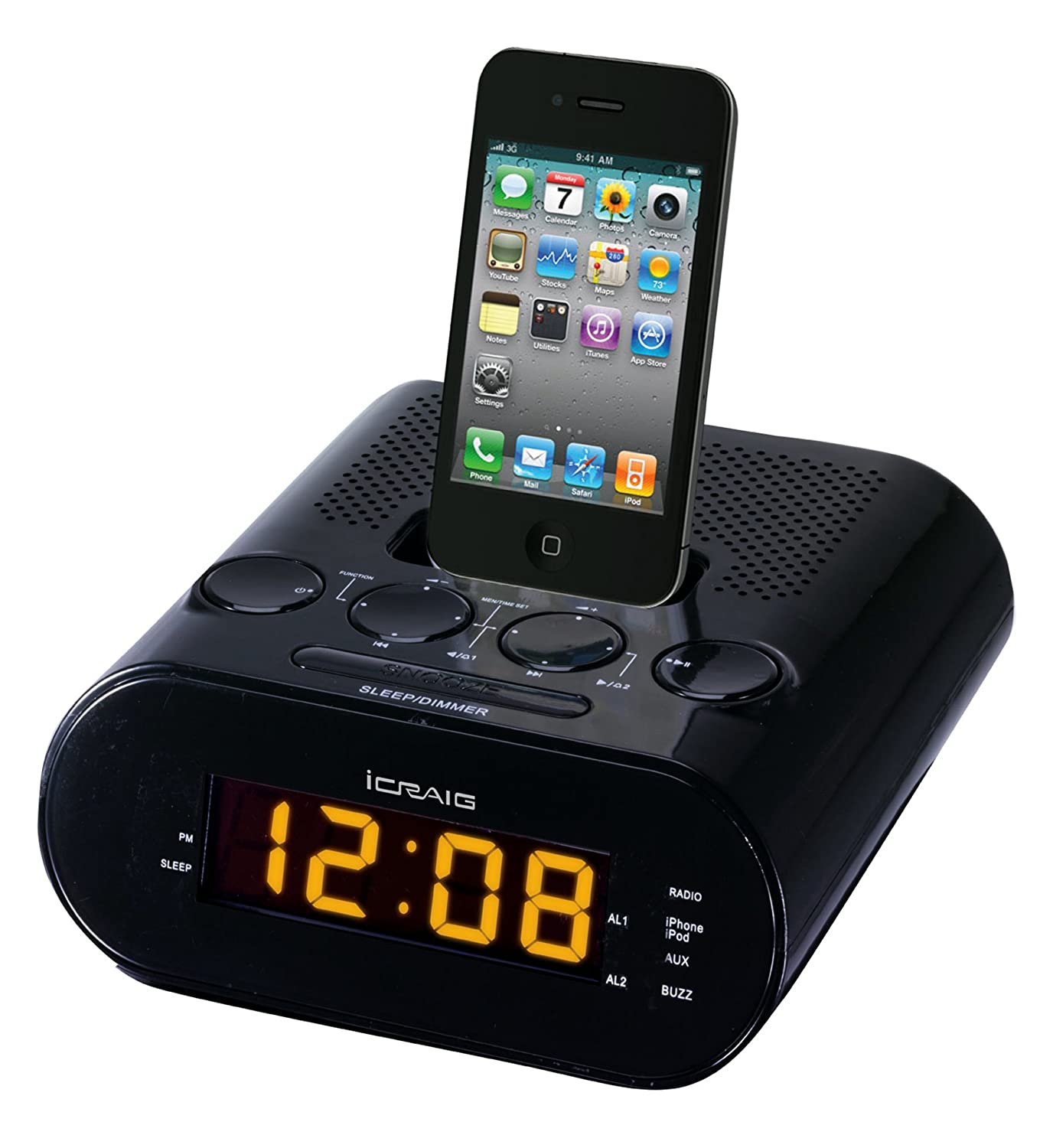 Craig Dual Alarm iPod/iPhone Docking Alarm Clock купить водныи велосипед craig cat