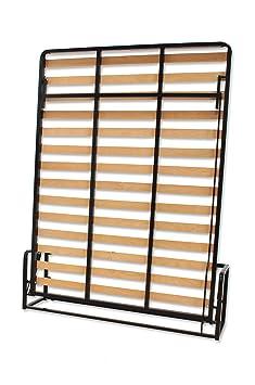 Cama De Matrimonio Abatible Vertical 120 x 190 cm (cama doble estilo Murphy Bed, cama plegable, sofá cama, mueble cama oculta).