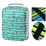 YOUNGCOL Colored Pencil Case Slot - Holds 150 Pencils or 102 Gel Pens Compound Fabric Pens Holder Pencil Organizer Storage for Watercolor Pens Markers,Green Bird (Color: 152 Green, Tamaño: 152Slots)