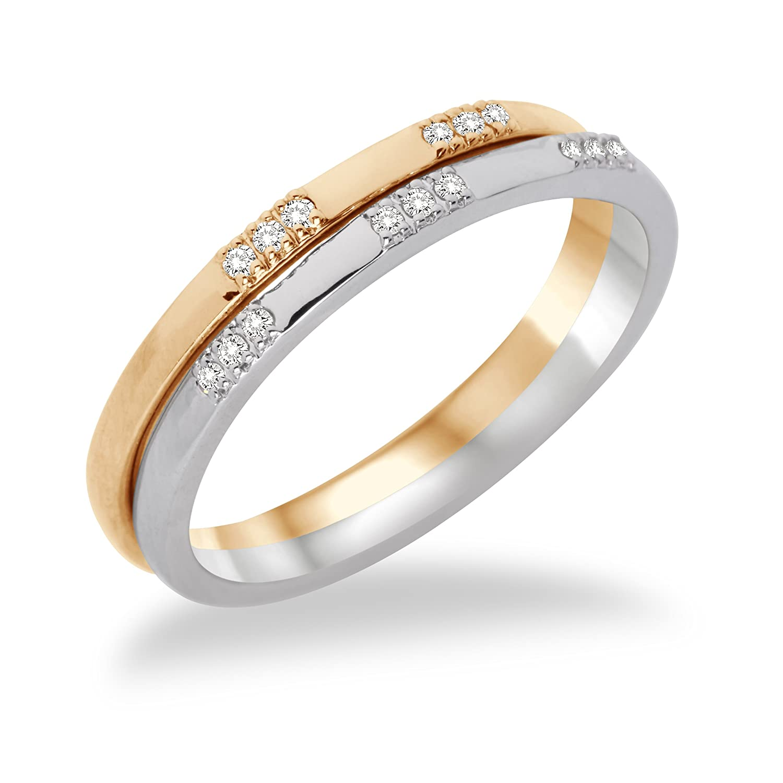 Miore Damen-Ring 2-teilig 375 weiß-/Gelbgold mit Brillanten MF9007RM bestellen