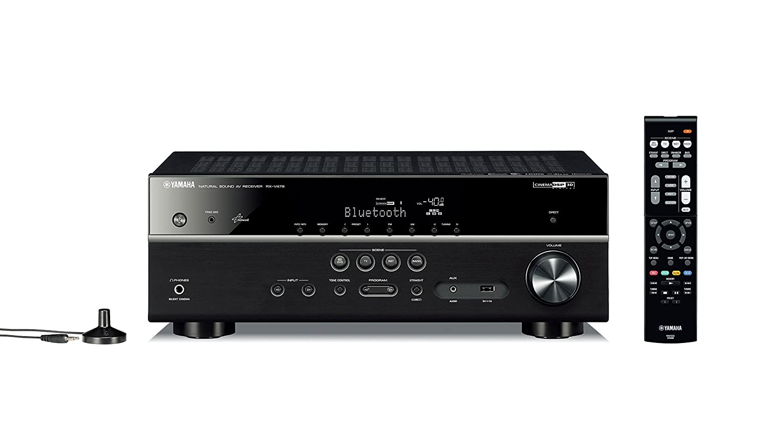 Yamaha RX-V479BL 5.1-Channel MusicCast AV Receiver with Bluetooth