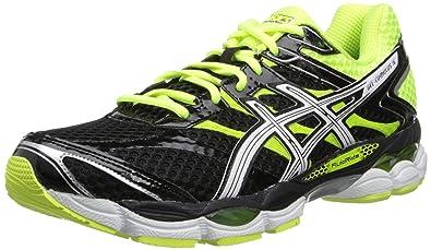 ASICS Men's Gel-Cumulus 16 Running Shoe,Black/White/Flash Yellow,10 M US